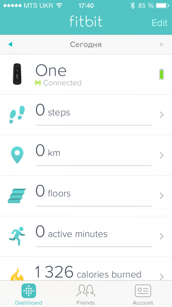 Fitbit One для Iphone